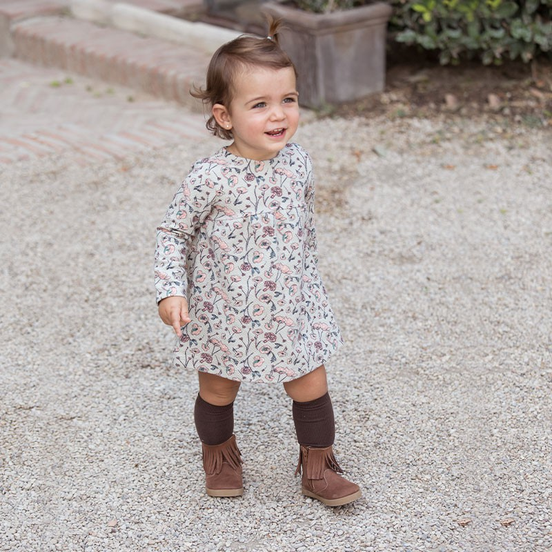Fringed Booties with Zip for First Steps