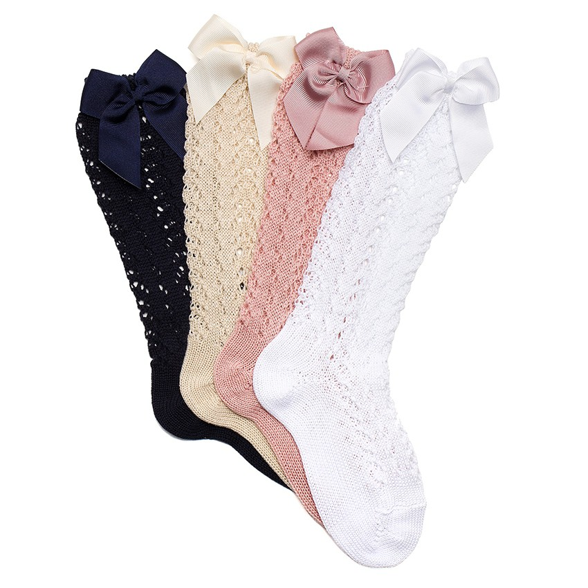 Condor high lace socks with bows