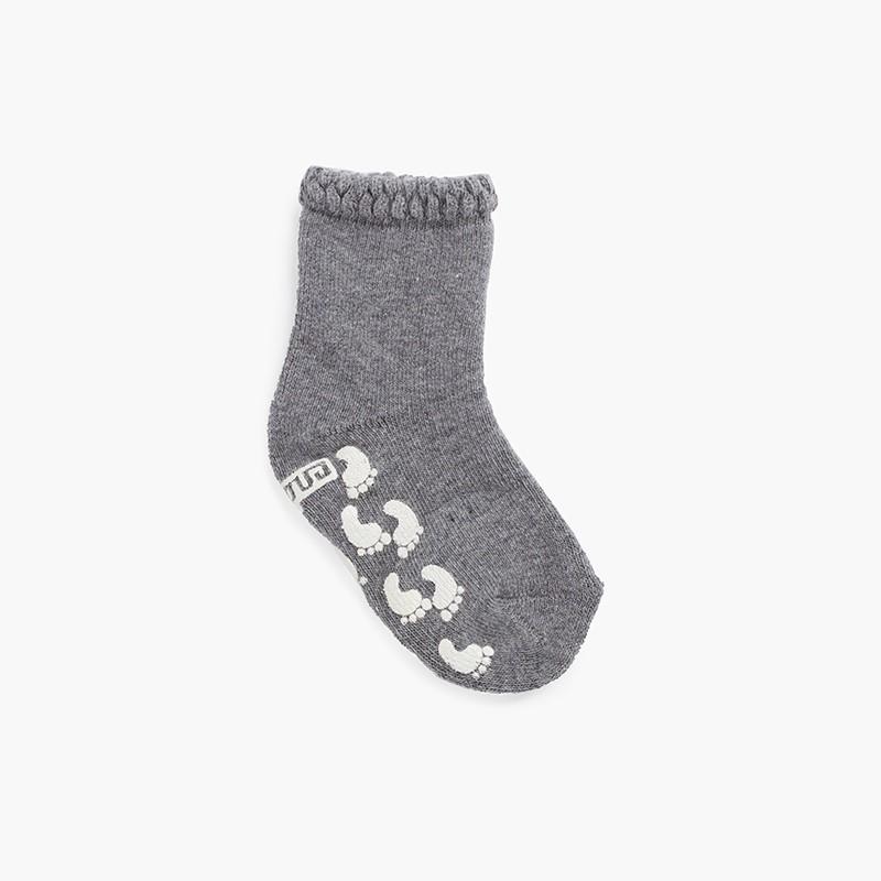 Non-slip socks carved cuff prints
