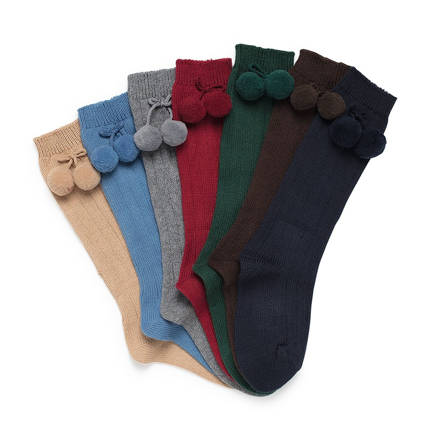 CONDOR Pom Pom Baby Socks