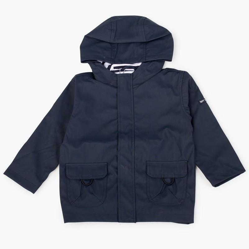 Boys raincoat with zip closure pockets