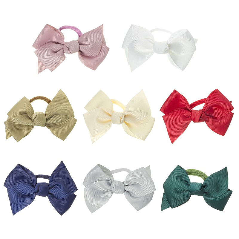 Girls Hair Elastic Large Bow