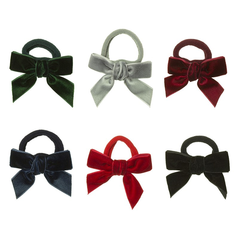 Hair tie with velvet bow