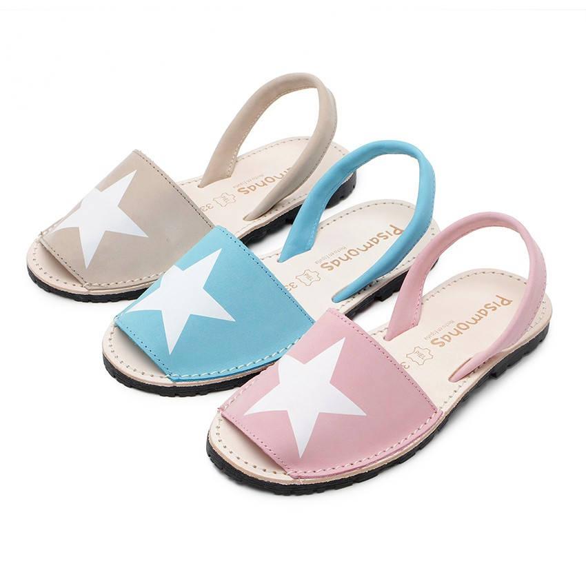 Nubuck Menorcan Sandals with Stars