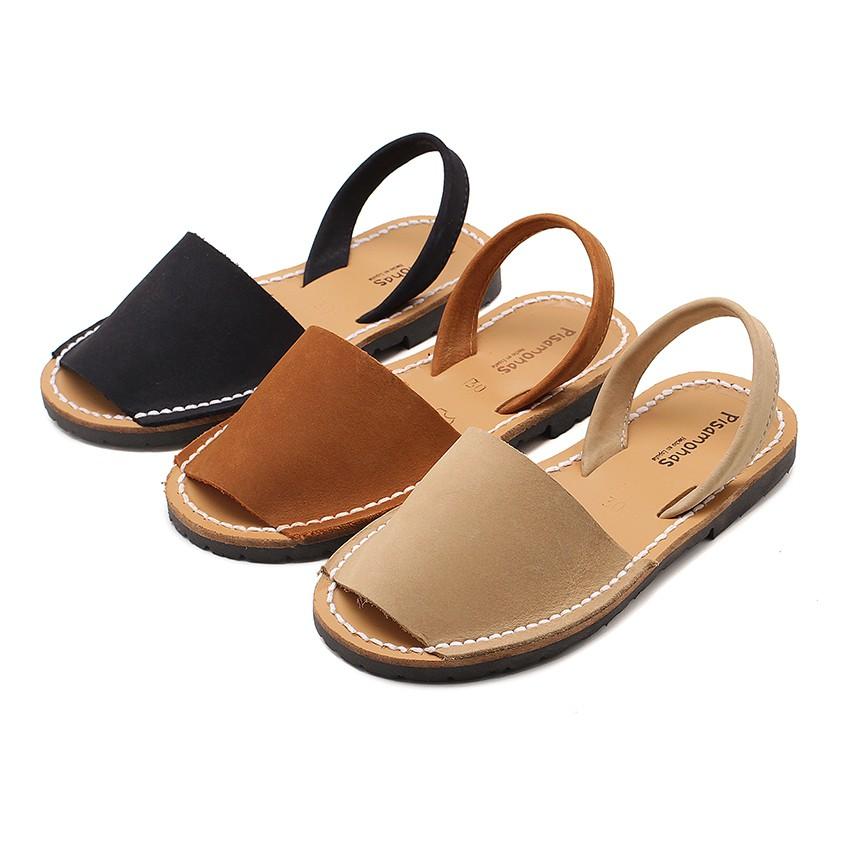 Nubuck Avarcas Menorcan Sandals