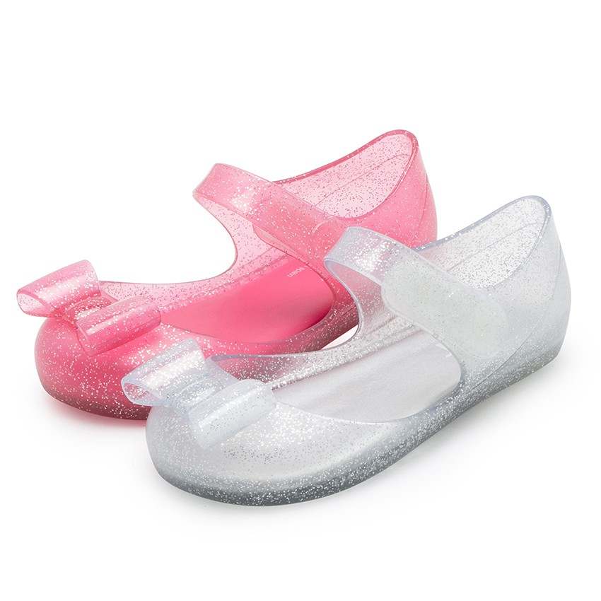 Mary Janes Jelly Sandals loop fasteners and Bow Mia