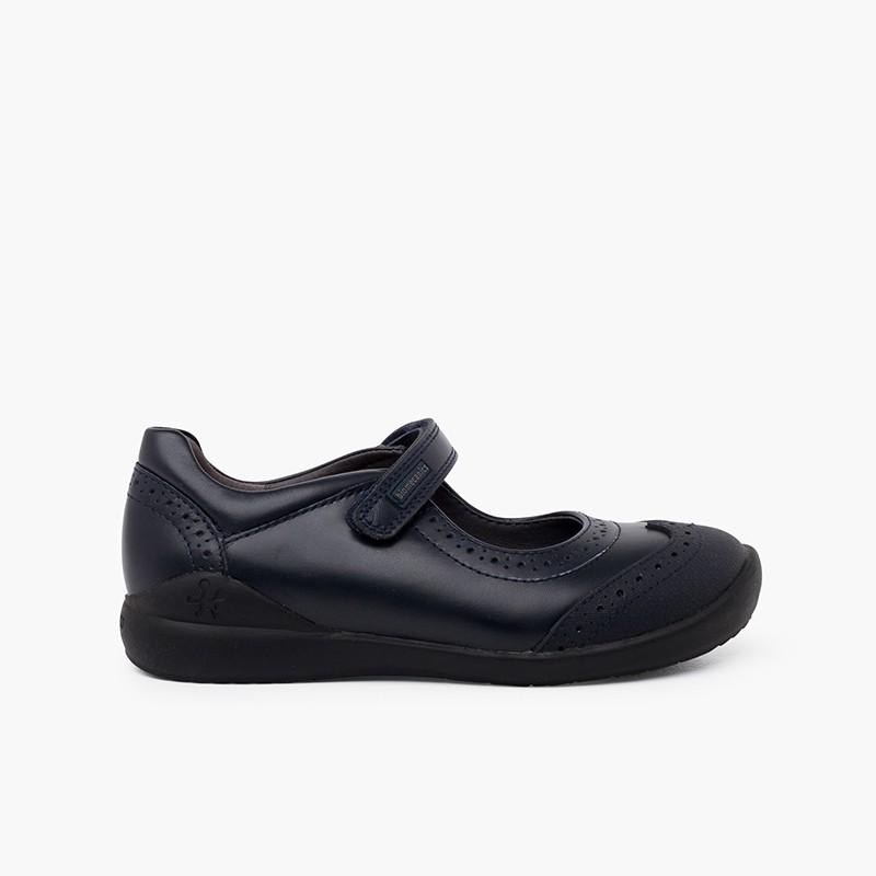 Biomecanics girl's school shoes with chopped