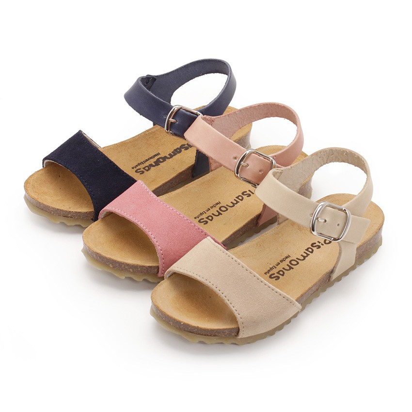 Leather and Suede Sandals with Buckles