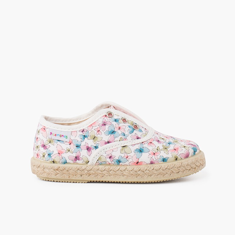 Butterflies Elastic Tongue Trainers without Laces