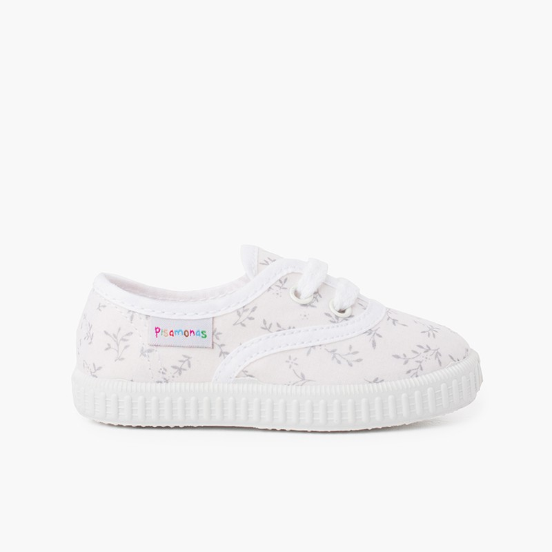 Kids Patterned Canvas Trainers