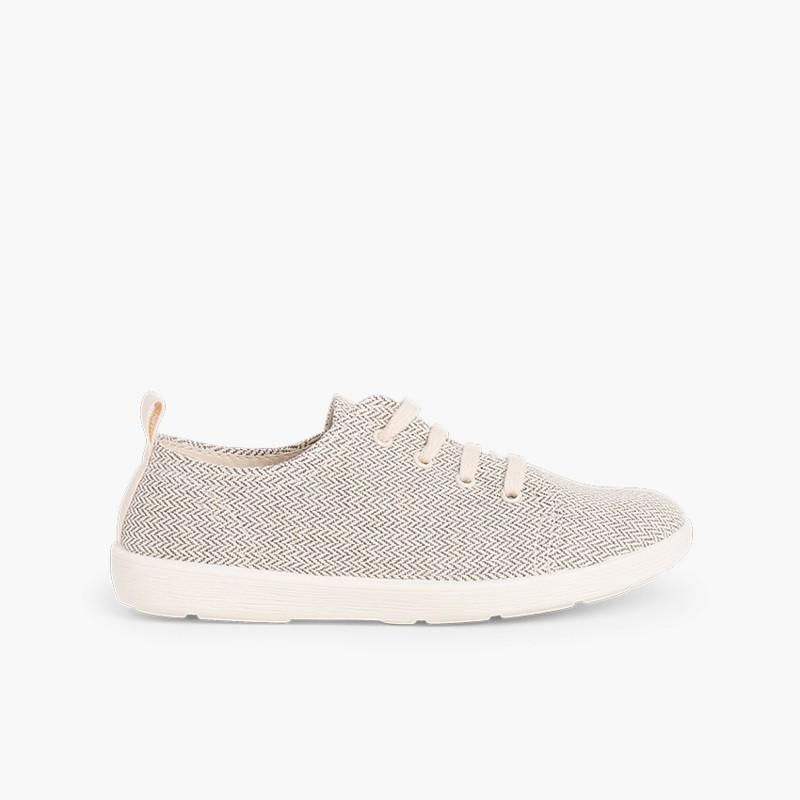 Casual Canvas Shoes Grey Gris