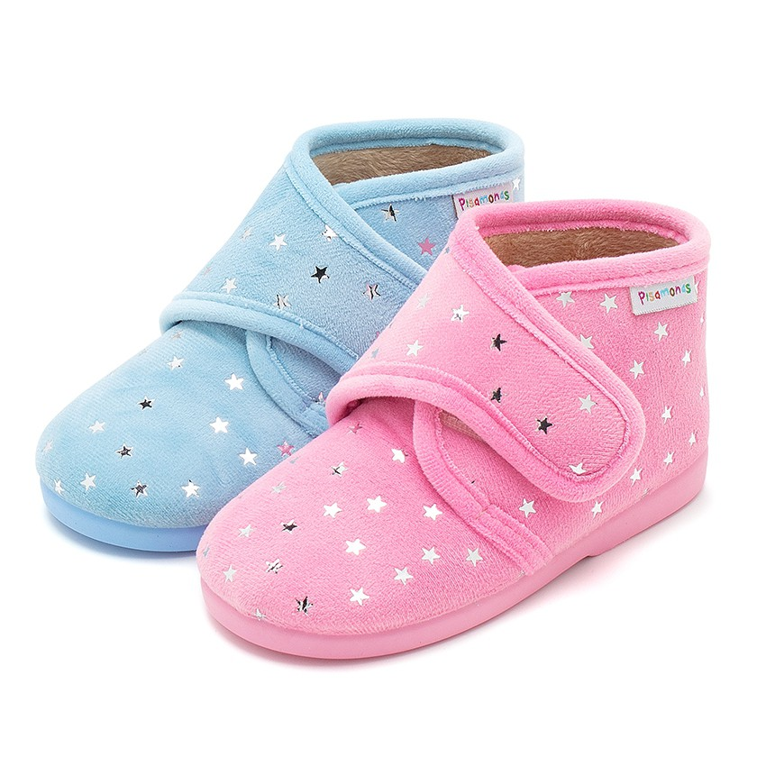 Bootie Slippers with Little Stars