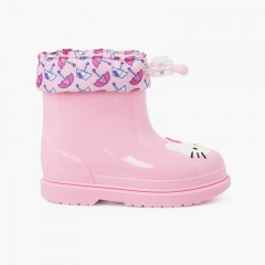 Hello Kitty low-cut wellies Pink