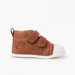 White toe sport leather bootie