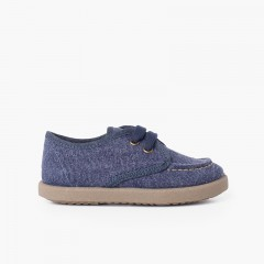 Casual Canvas Deck Shoes with Sport Sole