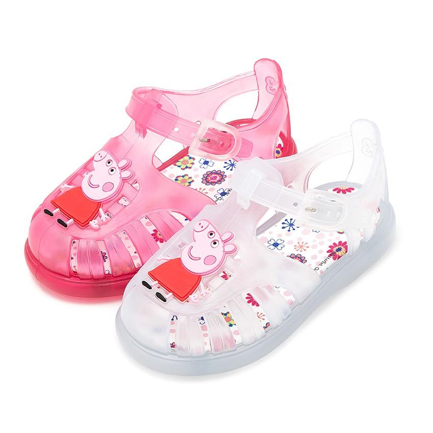 Girls peppa pig jelly shoes summer kids footwear at - Peppa cochon a la plage ...