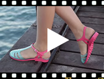 Video from T-bar Sandals for Women Gladiator Style - Jelly Sandals Laida