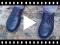 Video from Blucher-style children's leather shoes