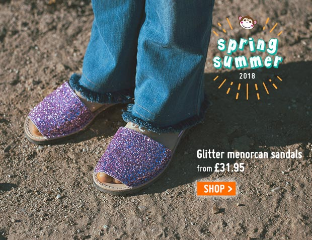 Glitter Menorcan Sandals for Girls and Women