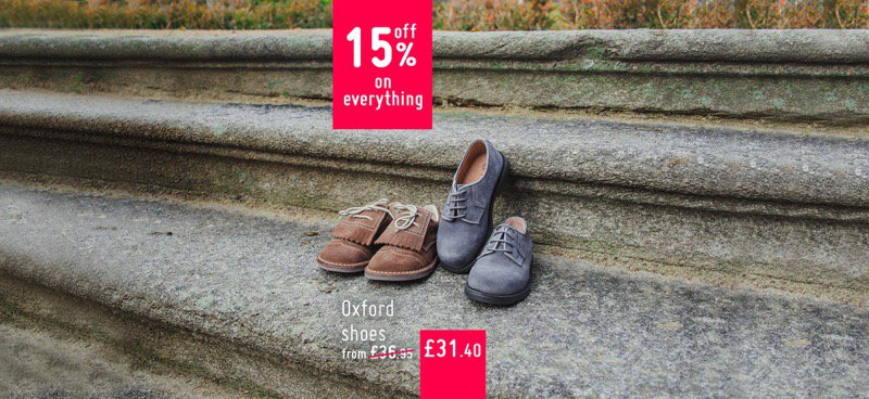 Brogues and Bluchers with 15% off