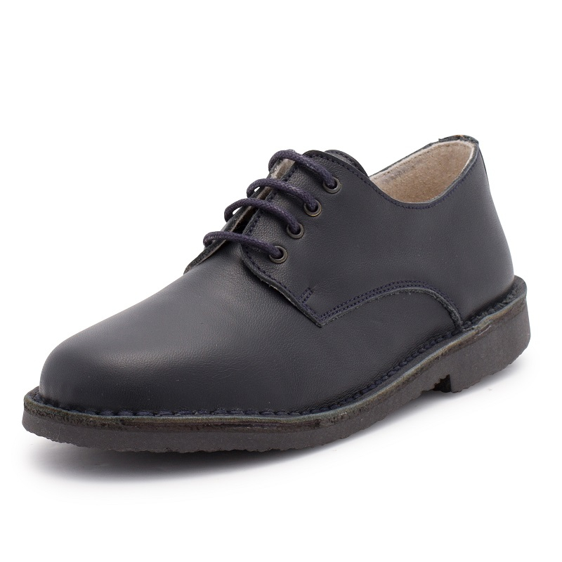Blucher-style children's leather shoes