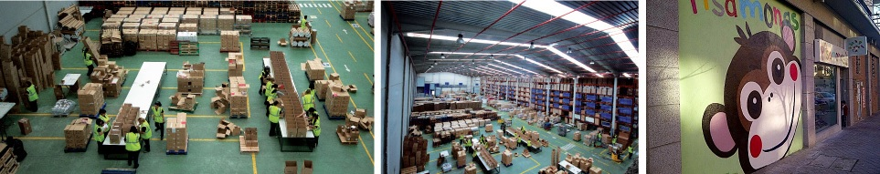 Pisamonas centro logistico pedidos online
