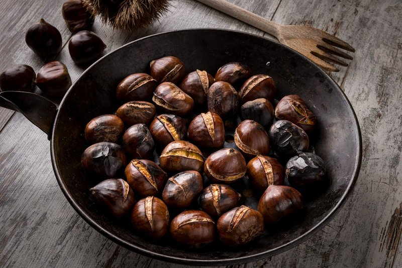 Buy chestnuts and roast them at home